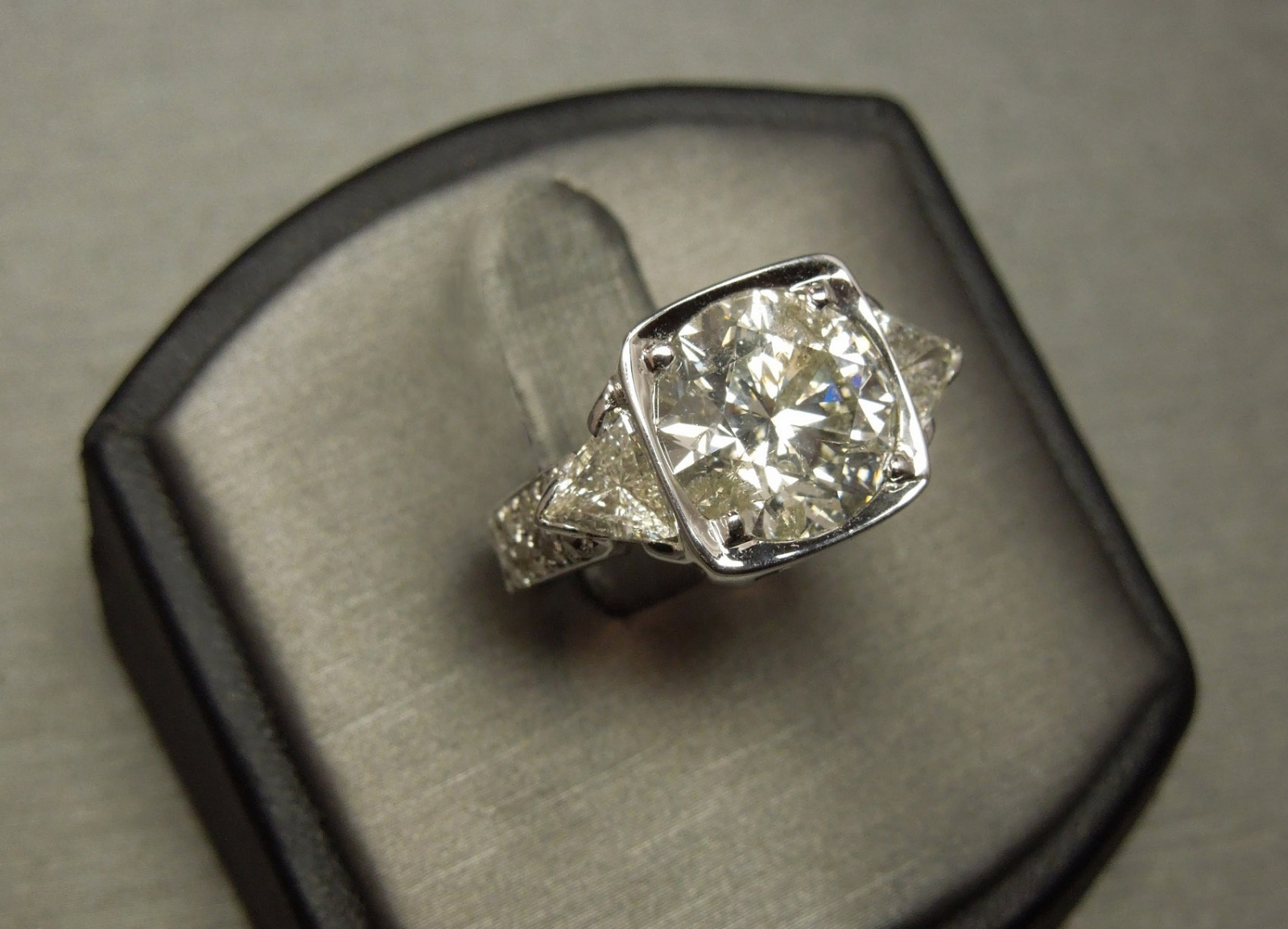 Estate Custom Made 5 Carat Diamond Engagement Ring