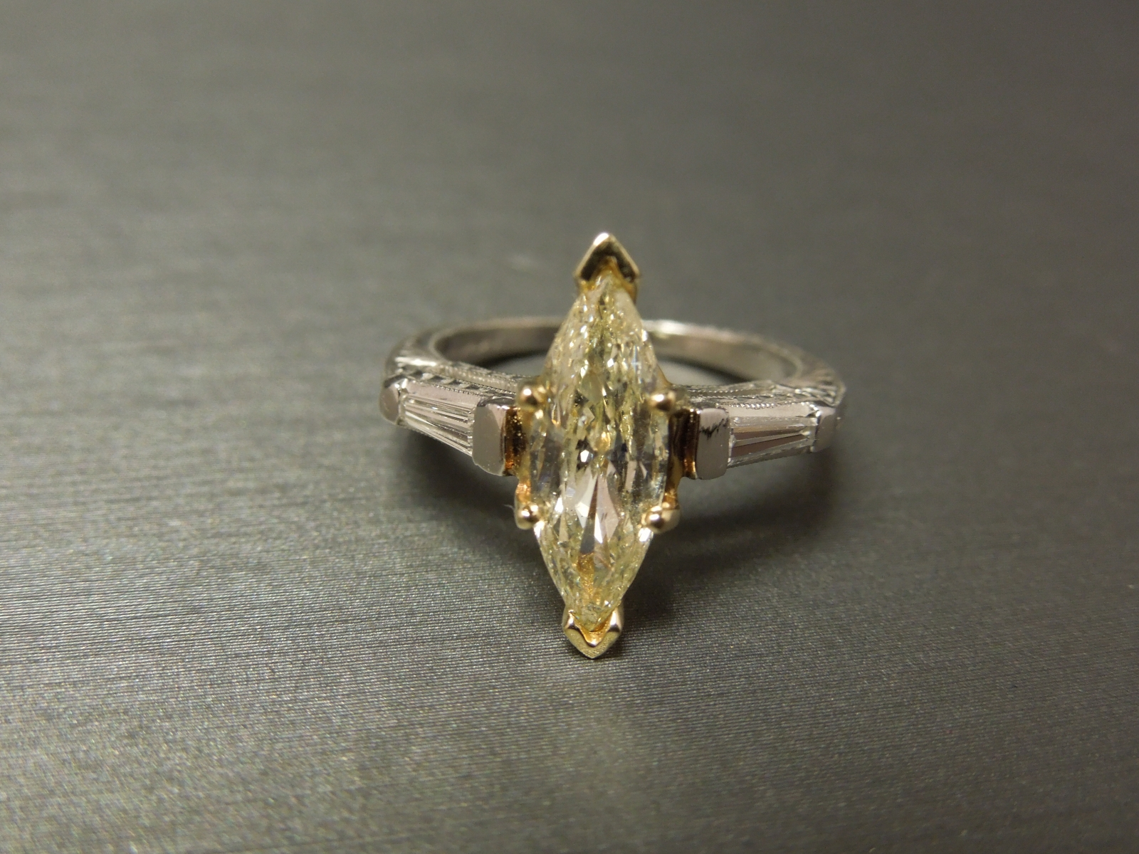 diamond three cz canary stone inspired edmonds celebrity s ring engagement replica tracey eve