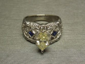 202TCW Fancy Marquise cut SI2 Canary Diamond Engagement Ring