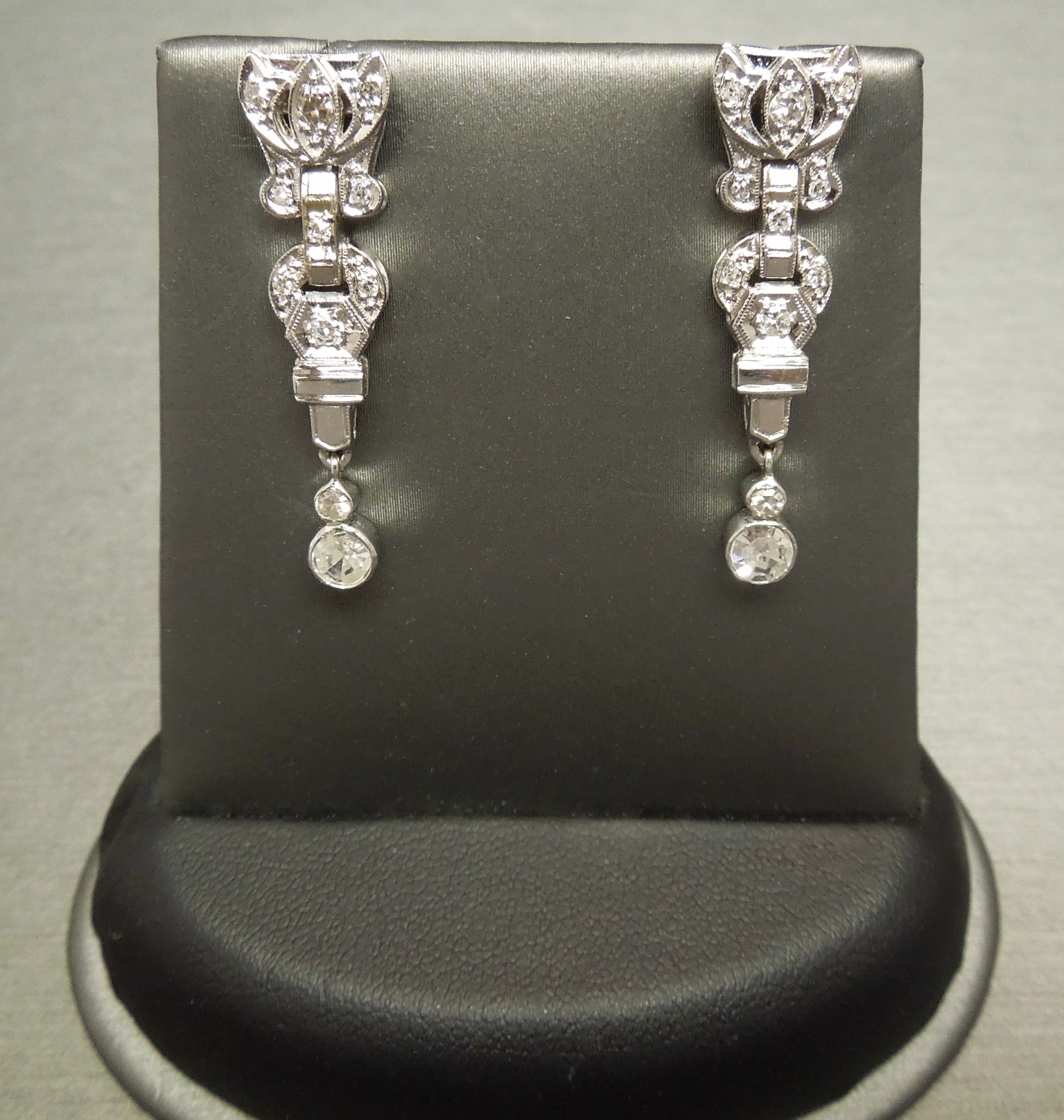 earrings cluster diamonds pin of antique diamond